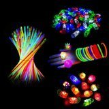 Light Up My Party 148 Pcs LED Glow in the Dark Party Favors Pack