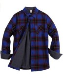 ZENTHACE Thermal Fleece-Lined Flannel Shirt Jacket