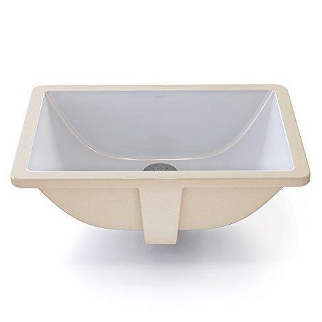 Classically Refined Rectangular Undermount Bathroom Sink